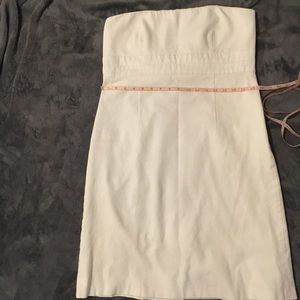 Banana Republic Women's White Strapless Dress